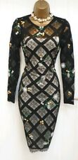 Karen Millen BNWT Lace Embroidered Wiggle Pencil Occasion Dress UK 6 RRP £235