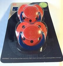 Boston Red Sox GLOW IN THE DARK Baby Infant Pacifiers NEW 2 Pack gift