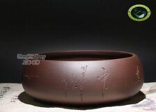 Yixing Clay Purple Cha Xi * Water Bowl for Gongfu Teacups