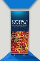 Roller Banner Pop/Roll/Pull up Exhibition Display Stand With Printed Artwork