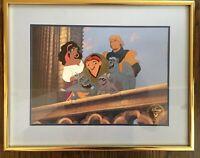 Disney Lithograph 1997 Hunchback of Notre Dame Esmerelda Quasimodo Gargoyles