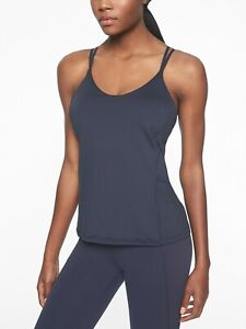 ATHLETA Dream Support Top Navy M 8/10 NWT Retail $64