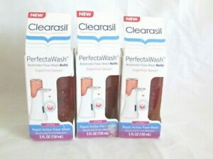 3 boxes Clearasil Perfecta Wash Super Fruit Splash Rapid Acne Face Wash NEW