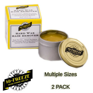 All Natural Beeswax No-Tweeze Classic Eyebrow Spot Hair Removal Wax - 2 PACK