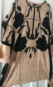 Kurti/Kurta/Kaftan/Tunic Top (Size Medium)Cotton material in Beige