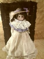 Rare Antique 8 inch Heubach Kopplesdorf bisque swivel head Mignonette doll