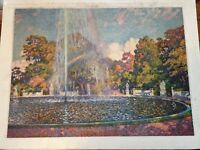 """AUTHENTIC ARTAGRAPH OIL PAINTING  """"FOUNTAIN IN SANSSOUCI """" THEO VAN RYSSELBERGHE"""
