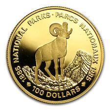 1985 Canada 1/2 oz Proof Gold $100 National Parks (Bighorn) - SKU #12987