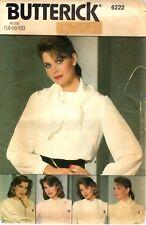 Butterick Sewing Pattern Women's BLOUSE & COLLARS 6222 Sz 14-16-18  UNCUT