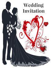 Wedding invitations x50 day and night plus envelopes...