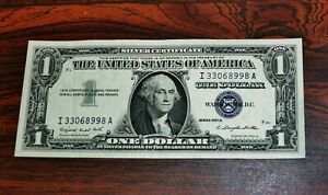 1957-A $1 ONE DOLLAR SILVER CERTIFICATE CURRENCY NOTE-I 33068998 A -NICE
