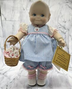 """Vintage """"Basket of Love"""" Porcelain Kewpie Doll  Danbury Mint  12"""""""