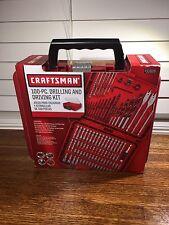 Craftsman 100 Piece Drilling & Driving Kit Mason Wood Plastic Plumbing Electric