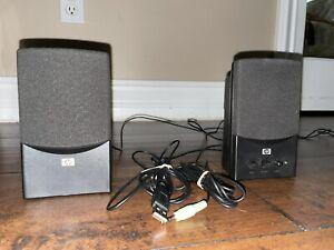 HP Multimedia Speakers UC-230 Black Wired Adjustable Volume and Tone Speakers