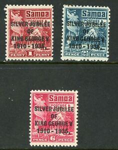 British 1935 Samoa KGV Silver Jubilee Scott 163-165 MNH Y293 ⭐⭐⭐⭐