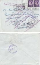 G.B. Sent to Passenger M.S. Lisboa etc and addessed to Ceuta,  RTS   {See Below}