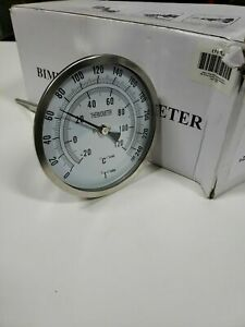 ZORO SELECT 1NGC1 Bimetal Thermometer 5 In Dial 0 to 250F