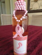 WINE BOTTLE DECORATION BREAST CANCER NECKLACE  FOR CENTERPIECE OR GIFT LOT OF 12