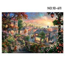 1000 Pieces Puzzle Quiet Town Adult Kids Jigsaw Decompression Game Home Gift--