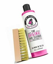 Pink Miracle Shoe Cleaner Kit 8 Oz. Bottle Fabric Cleaner for Leather, Whites...