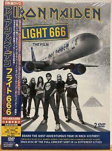 IRON MAIDEN Flight 666 The Film JAPAN ORG 2009 DVD Set Sealed PROMO Metal