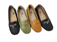 Women's Moccasin Flat Shoes - Run Narrow - Order Half Size Up