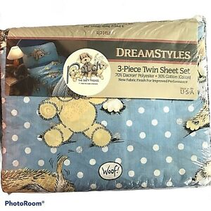 Dreamstyles Patch the Dog & Friends 3 piece twin sheet set Vintage