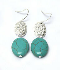 HORSE & WESTERN JEWELLERY JEWELRY WESTERN THEME EARRINGS SILVER TURQUOISE c