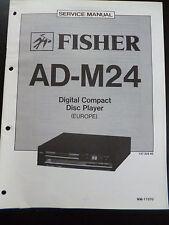 Original Service Manual Fisher Digital Compact Disc Player AD-M24