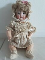 "Antique 15"" Bruno Schmidt 2097 German Bisque Toddler Baby Stamped Composite Body"