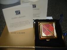 "Estee Lauder Solid Perfume Powder Compact ""Red Tartan"" MIB"