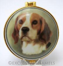 More details for alastor enamels beagle dog round hinged china trinket box