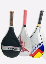 Lot 3 Tennis Racquets Equipment Case Balls Bag Hats Vtg Hard2Find Collection