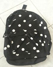 Hollister Graphic Nylon Backpack, Polka Dots in Black, NEW & Cool Look