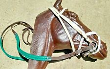 Nylon Race Bridle~Headstall,Chin Strap,Noseband,Reins~Whit e & Brown-Horse Racing