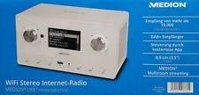 Medion P85066 WiFi Stereo Internet-Radio, DAB+/UKW-Empfänger, weiß - Neu & OVP