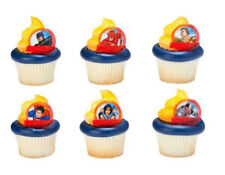 Justice League Brave and Bold cupcake rings (24) party favor cake topper