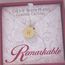 """14k Gold Plated Sterling Silver Alphabet Letter Initial """" R """" Pendant Necklace"""
