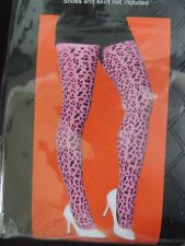 Adult Womens Pink * Leopard Tights * Nwt / Nip One Size Fits Most (Age 14+)