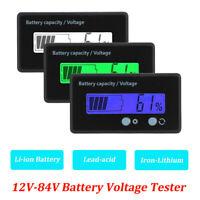 12-84V LCD batterie testeur de tension compteur mètre moniteur voltmètre