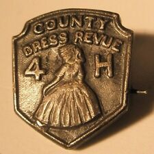 4H County Dress Review 4H Vintage Lapel Pin state fair gift