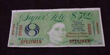 Loto Quebec lottery specimen ticket 1975 no 0000000  Super-Loto
