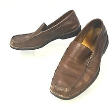 Timberland Men's 66560 Brown Pebbled Leather Slip On Loafer US 8.5    (sh136)