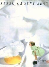 Publicité ancienne Parfum Kenzo non parfumé