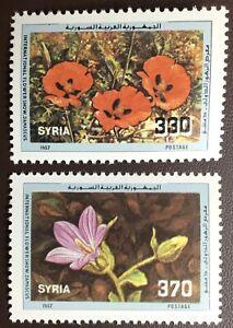 Syria 1987 Flowers MNH