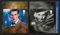 GB 2013 sg3448 sg3450 Doctor Who self adhesive booklet stamps MNH