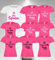 T-shirt Addio al Nubilato la SPOSA e TEAM con AMICA TESTIMONE MAMMA SORELLA ZIA