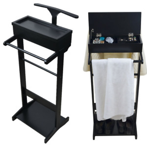 Valet Stand Clothes Coat Suit Trousers Hanger Stand Men Shoe Organizer Rack Gift
