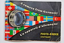Photo Binder German 1950's Camera Catalog Vintage Photography Collectiblle 91 Pg