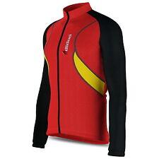 para hombre, Con Manga Larga Térmico Maillot de ciclismo Cremallera Camiseta